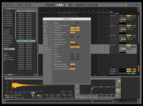 Mid-Dark 2 Theme for Ableton 10 by Jose
