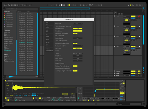 Red19_dark1 Theme for Ableton 10 by Red19