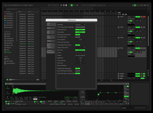 Arya Banerjee Spotify Theme Theme for Ableton 10 by Arya Banerjee