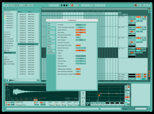 Blue Theme for Ableton 10 by Marco Viveros