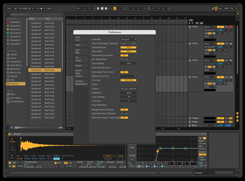 Dark Yellow Highlights Theme for Ableton 10 by Luke Callaghan