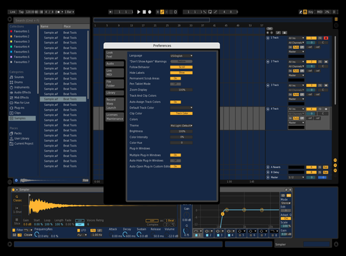 Royal Blue Theme for Ableton 10 by Gabrielton