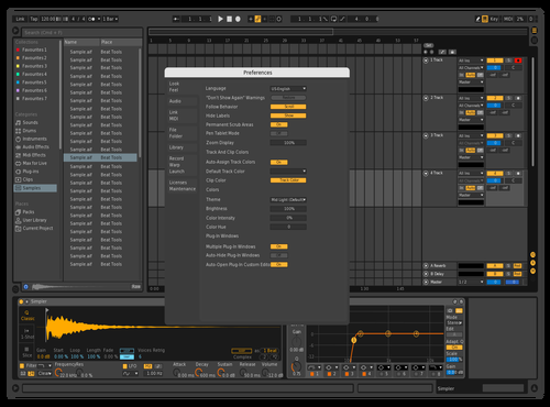Dark Orange Theme for Ableton 10 by Szymon Sochacki