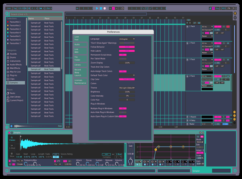 CYBER FRESH Theme for Ableton 10 by SONICX0