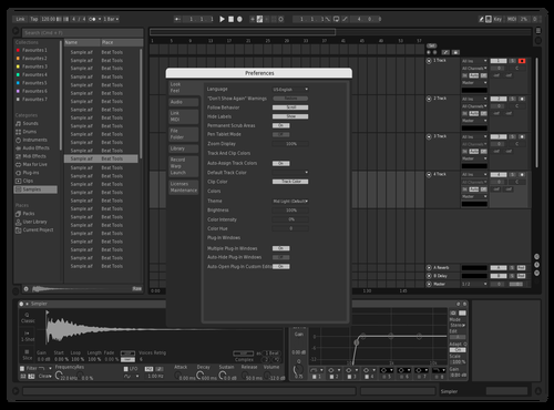 Monochrome Theme for Ableton 10 by Jay Hughes
