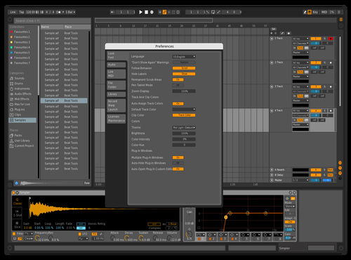 Clean Mid Theme for Ableton 10 by Godric