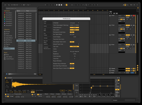 Dark w/ Gold Theme for Ableton 10 by t