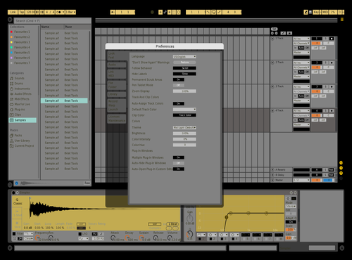 Black and yellowww Theme for Ableton 10 by ATHRS