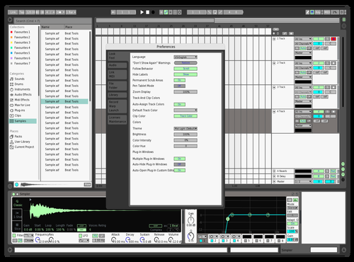 Mint 1 Theme for Ableton 10 by Peter Martin
