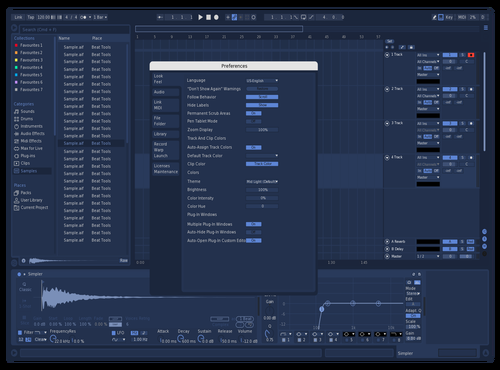 Navy Theme for Ableton 10 by Ableton Themes
