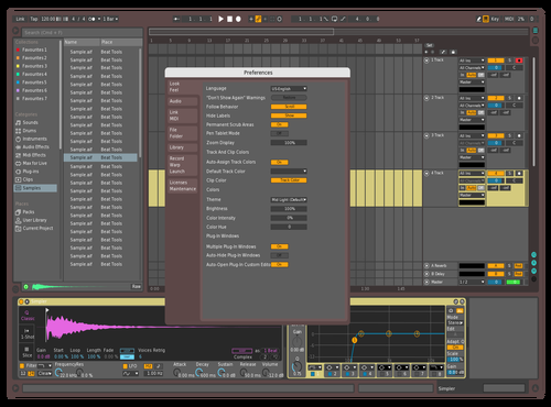 Mid Dark Colorful Theme for Ableton 10 by Kevin Zhang