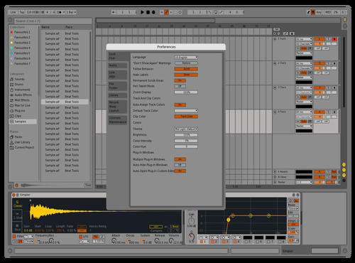 Yellow Theme for Ableton 10 by suglobez