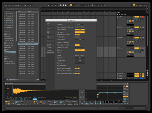 Dark Volume Arrows Theme for Ableton 10 by Chris