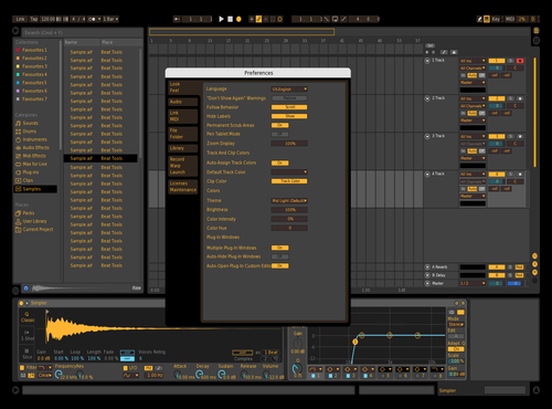 Black&Yellow Theme for Ableton 10 by IDGI