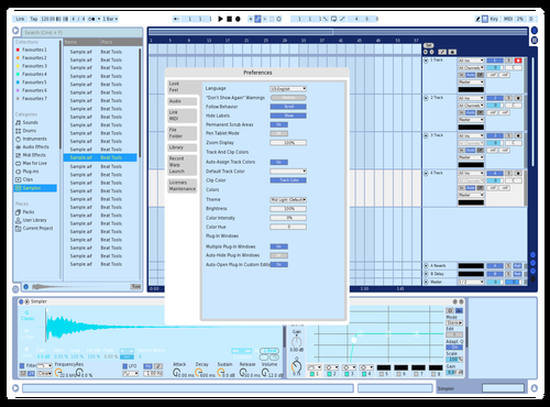 Blue Theme for Ableton 10 by Christaen Harris