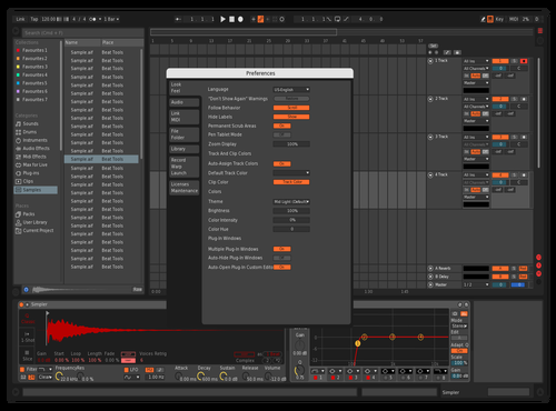Dark Red Theme for Ableton 10 by Alessandro