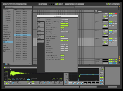 Green777 Theme for Ableton 10 by Serafa