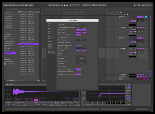 Purple Disco Theme for Ableton 10 by David Eccles