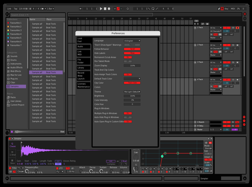 R3D Theme for Ableton 10 by Alexandre Chris Allan (aLb) Cramoisy