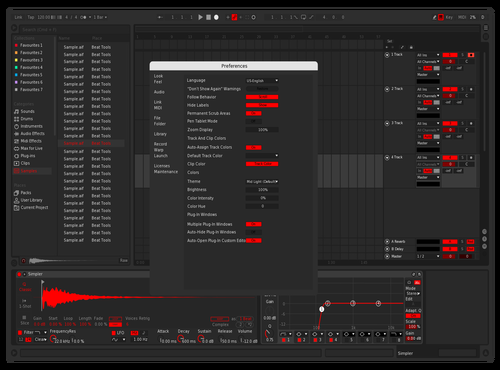 Dark & Red Theme for Ableton 10 by sasss