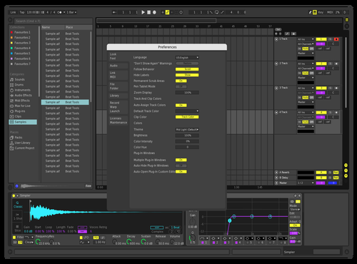 Darkydark Theme for Ableton 10 by Sascha