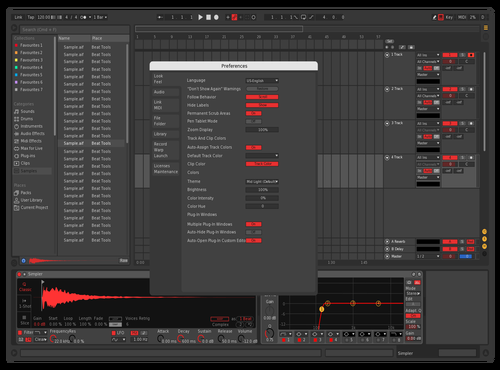 Foxofficial DarkRed Theme for Ableton 10 by Maxim