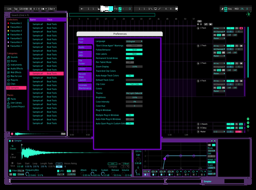 Digitalretro Theme for Ableton 10 by Tony Fleischmann