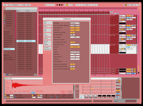 Burnt red D Theme for Ableton 10 by Fletcher Hendrickson