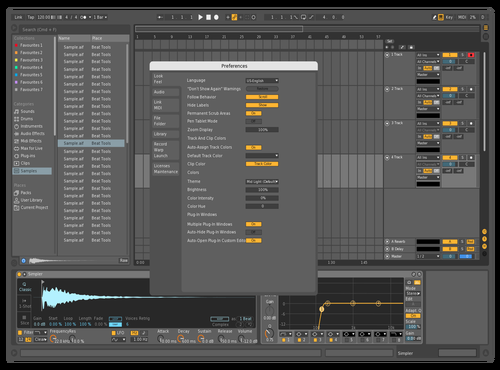 MidDarkUpd1 Theme for Ableton 10 by david