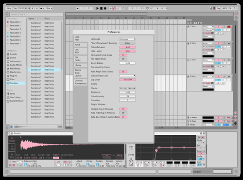 Pink Theme for Ableton 10 by taeil