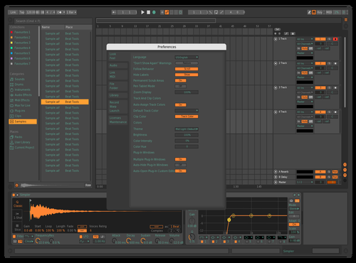 Bitwig tweaked Theme for Ableton 10 by SHANTANJUN