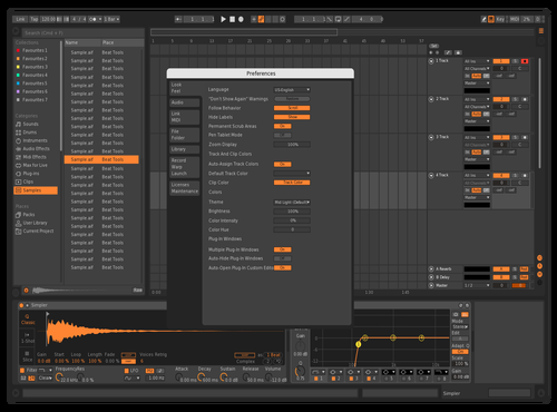 Bitwig dark Theme for Ableton 10 by arson