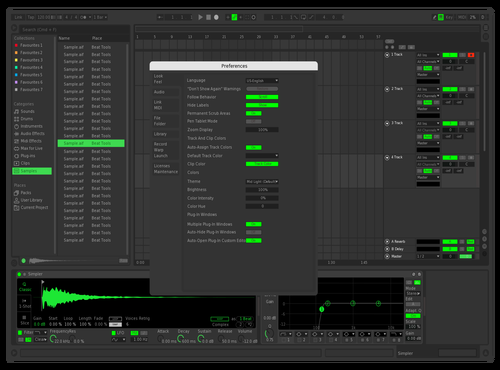Spotify w Fixed Select Theme for Ableton 10 by Stephen Gerbasi