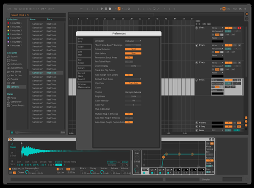 FOCUS ONE Theme for Ableton 10 by Lars Tveikra