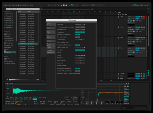 Ableton Dark Concept Theme for Ableton 10 by Bruno Passoni