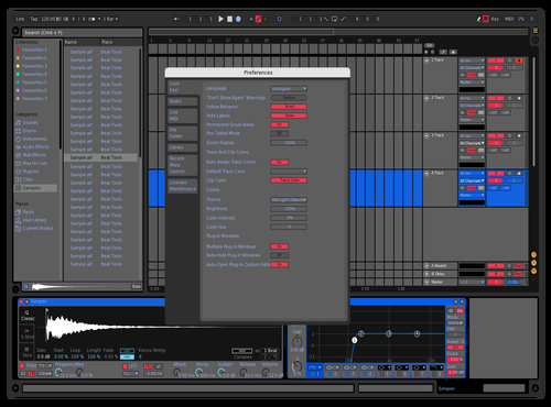 BLUE & RED Theme for Ableton 10 by Vulkan