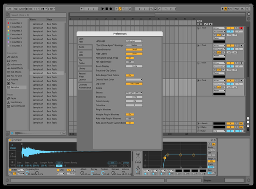 MID BLUE PRO 2 Theme for Ableton 10 by studiopolyphonic