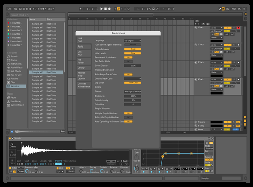 Golden Theme for Ableton 10 by Sliiimz