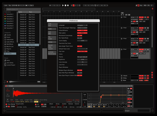 Dark Red Theme for Ableton 10 by Christopher Remillard