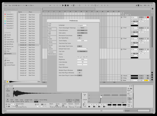 BLK&WHT Theme for Ableton 10 by IONCROPS
