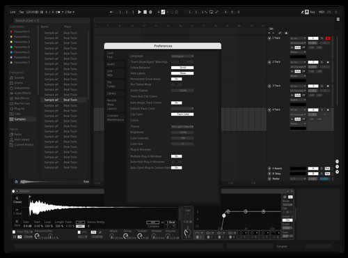 Dark Theme for Ableton 10 by Sam
