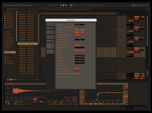 Warmth Theme for Ableton 10 by Onni