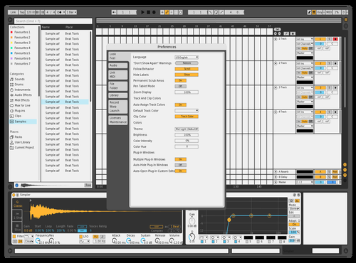 Black and White Theme for Ableton 10 by Sam99