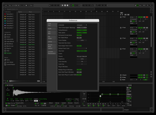 Green Metal Theme for Ableton 10 by Leo