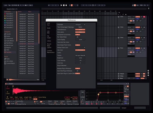 NAVY WARM BLUE Theme for Ableton 10 by lua