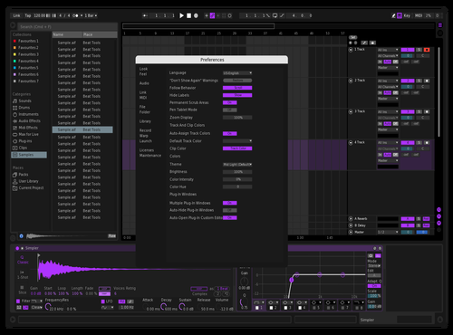 Dark // Purple Theme for Ableton 10 by Zac McIver