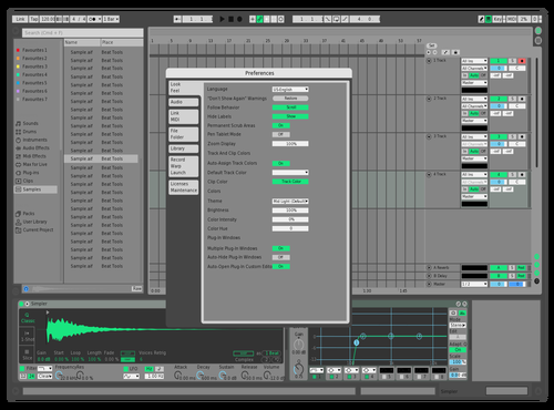 Rainforest Dark Theme for Ableton 10 by Leo Son
