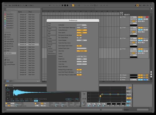 Mid Live Monster 2 Theme for Ableton 10 by studiopolyphonic