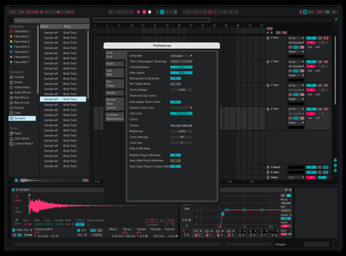 Pinky Blue Theme for Ableton 10 by roseate