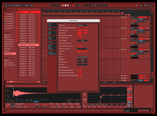 Red Orange Theme for Ableton 10 by Natham